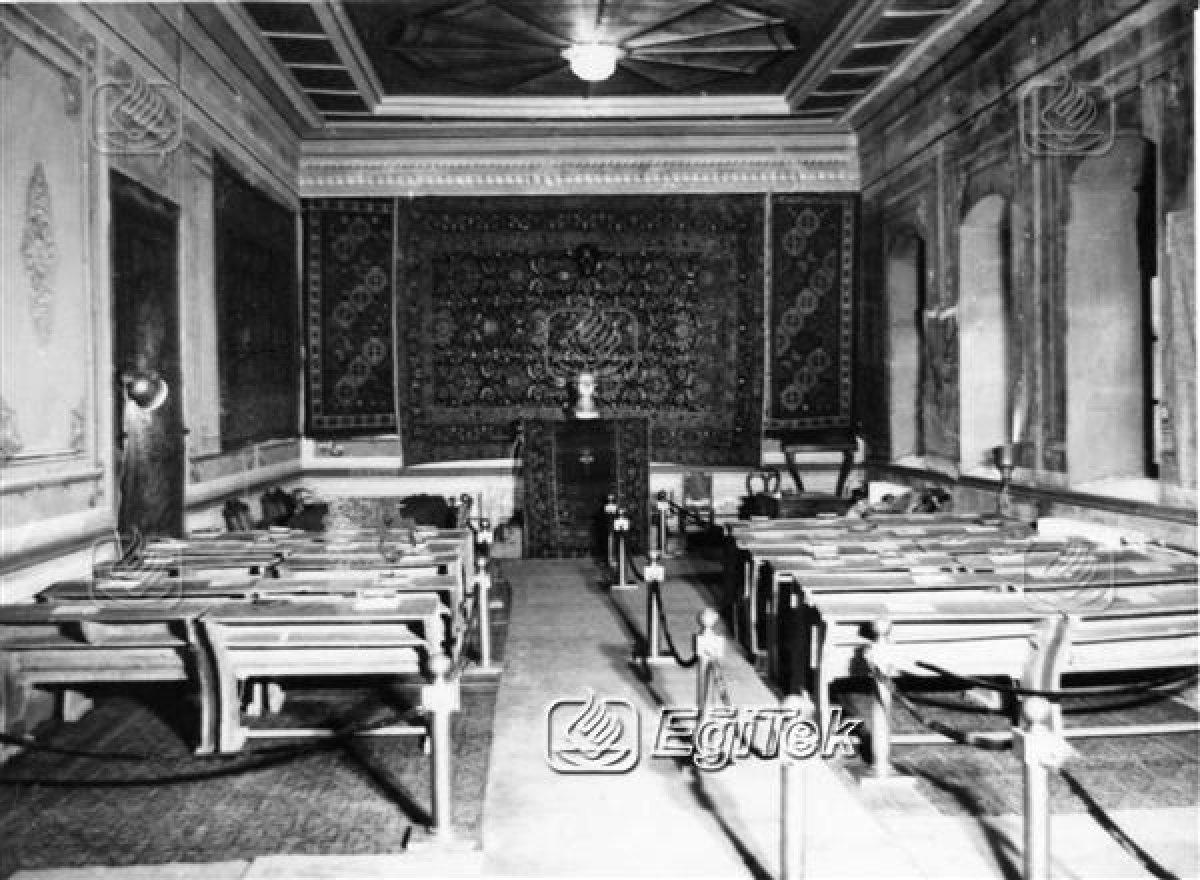 Sivas Kongresinin yapıldığı meclis salonu. Mandaya karşı ilk baş kaldırışın gerçekleştiği, Cumhuriyetin temelinin atıldığı salon.
