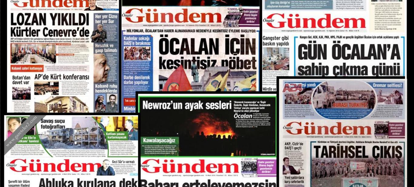 Özgür Gündem'in PKK'nın Sesi Olduğunu Gösteren 7 Manşeti