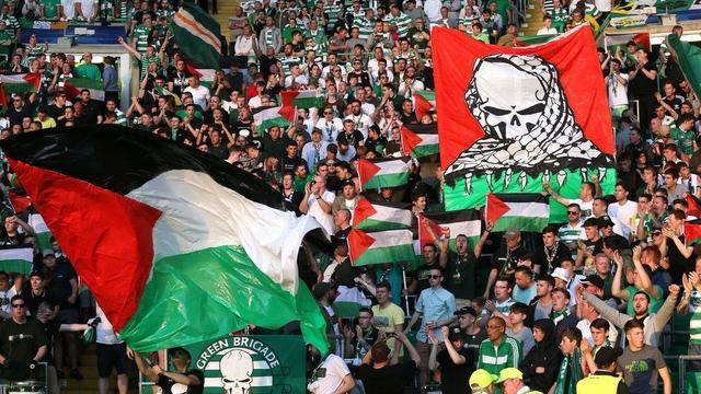 Filistin Bayrağı'na Ceza Kesen UEFA'ya, Celtic Taraftarlarından 2 Katı Cevap