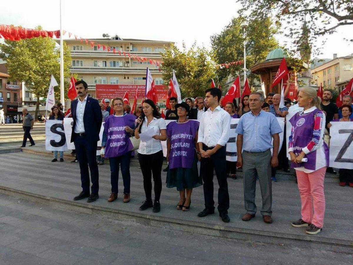 TLB Bursa'dan Atatürksüz Müfredata Karşı Basın Açıklaması