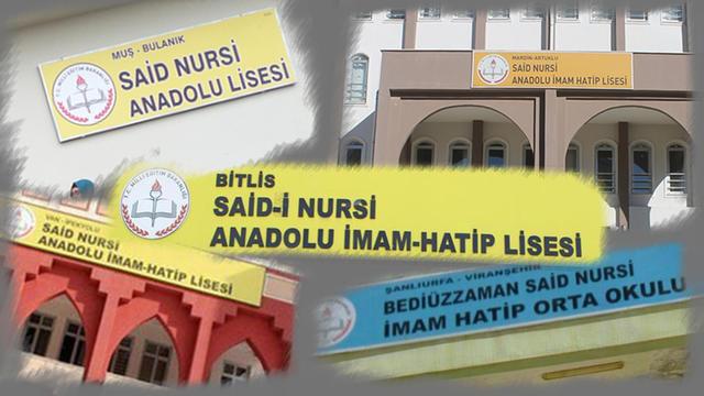 """""""Said Nursi"""" Hala O Okulların Tabelalarında"""