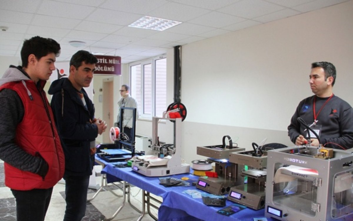 Liseliler 3D Yazıcı Tasarladı