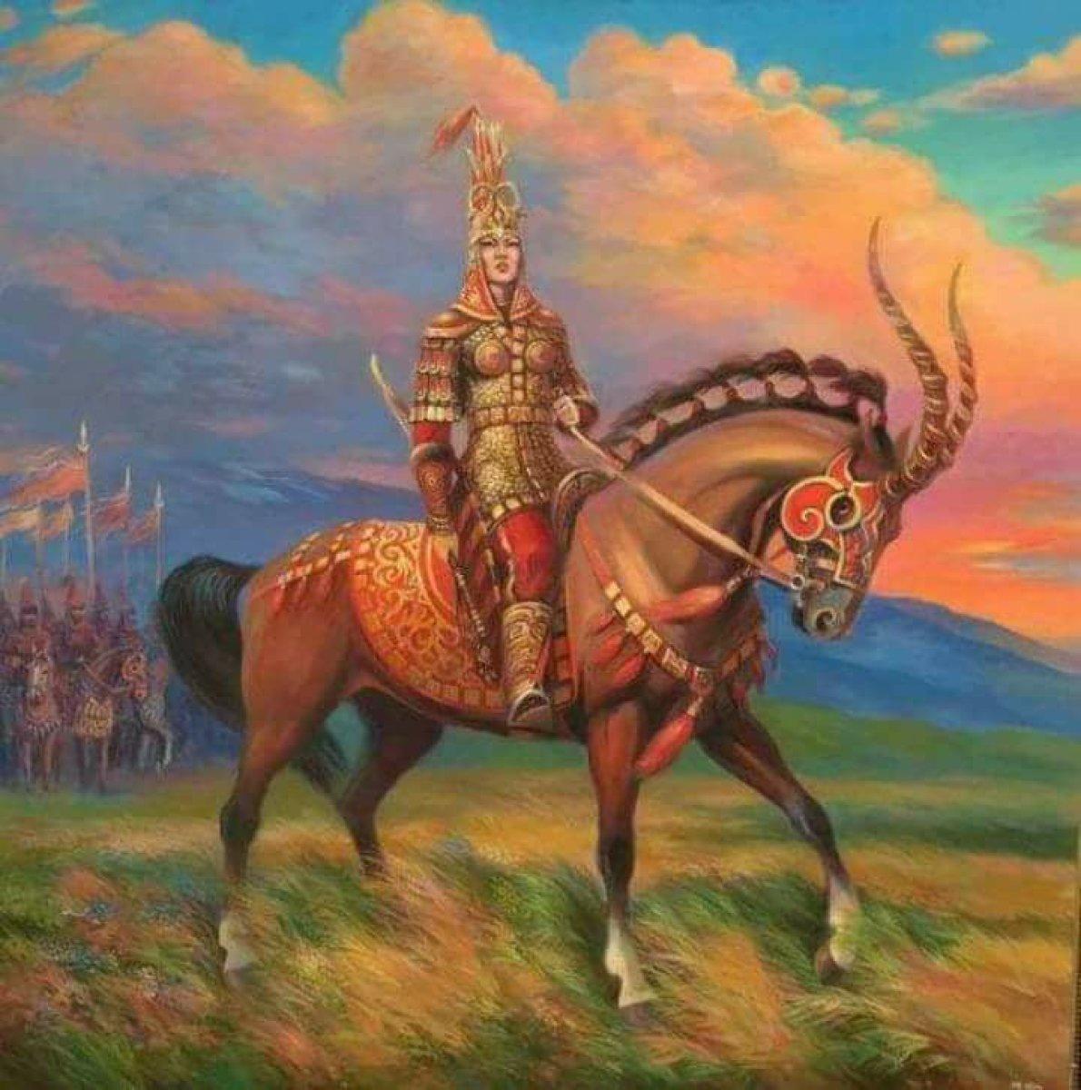 İlk Kadın Hükümdar Tomris Hatun Tasviri