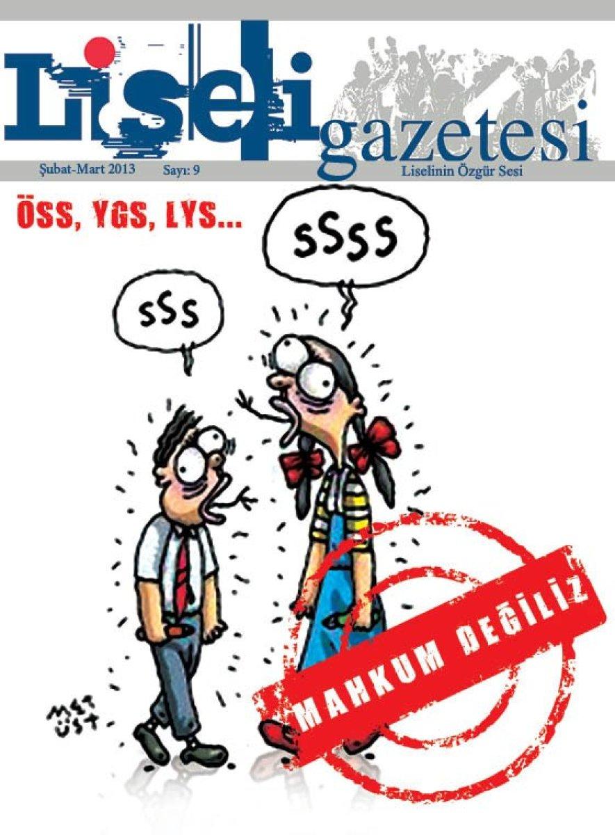 O dönem Çıkan TGB Liseli Dergisi'nin Kapağı