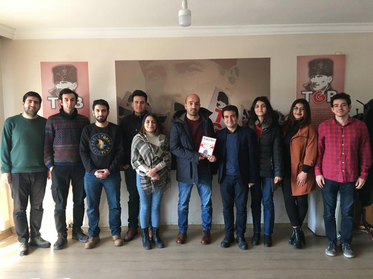 Eğitim İş'ten İhraç Edilen Bülent Turan'dan TLB'ye Ziyaret