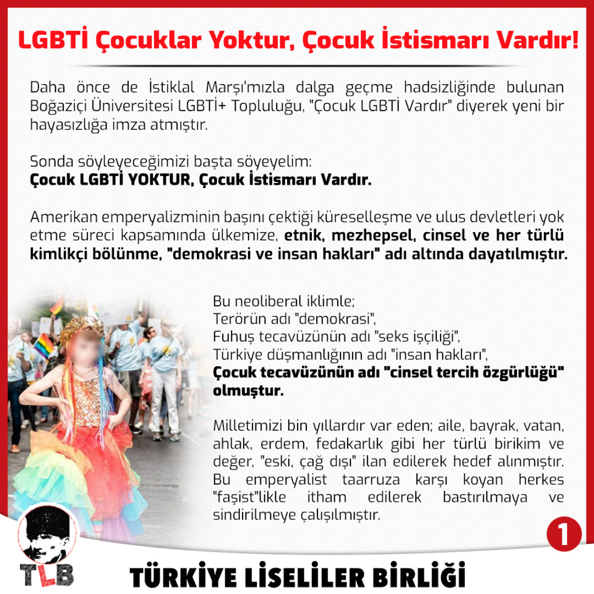 LGBTİ Çocuk Yoktur, Çocuk İstismarı Vardır