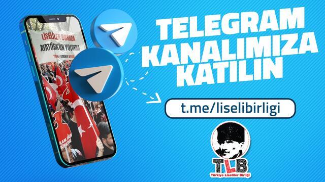 Türkiye Liseliler Birliği Telegram'da!